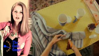Guilty Crafter Ep 9- Upcycled Dress Shirt Into A Coffee Cozy Gift For Dad