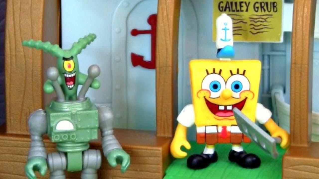 Spongebob Squarepants Imaginext Krusty Krab Playset with Chum Bucket and  Plankton! Nickelodeon