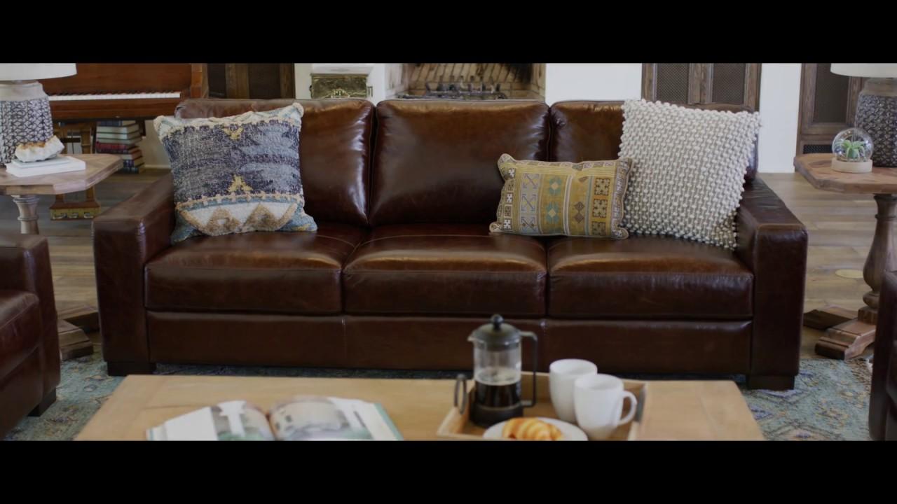 Jerome S Furniture Landmark Leather Living Room Set