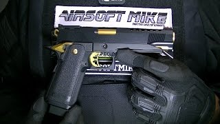 TOKYO MARUI HI CAPA 5.1 GOLD MATCH Unboxing Review Shooting Test / AIRSOFT