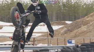 Arttu Stenberg is the Supermoto Stunt King...