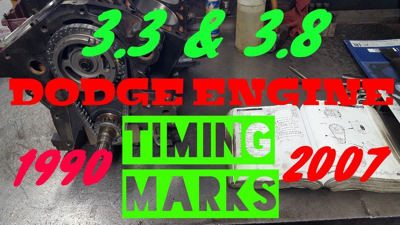 small resolution of dodge 3 3 3 8 timing marks timing chain replacement