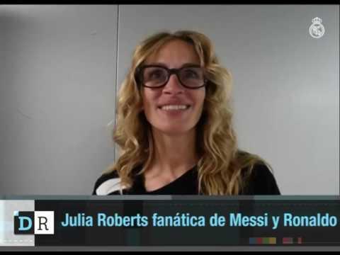 Julia Roberts fanática del Messi y Ronaldo