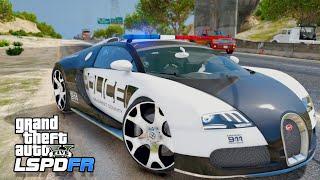 GTA 5 LSPDFR - Police Bugatti Veyron Patrol (Truffade Adder Mod)