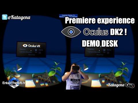 Demo Desk Oculus Rift DK2 : Première Expérience ! [ Video Facecam FR / Francais ]