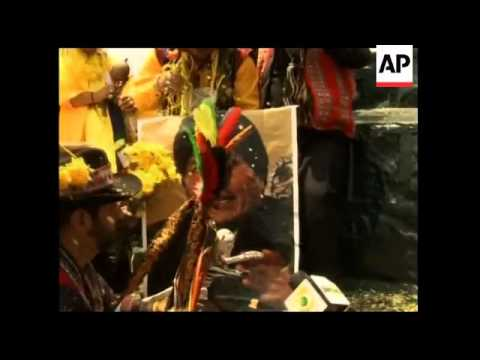 Shamans gather to predict what the new year will hold