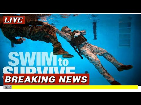 US Marines Train To Not Drown With Their Rifle & Equipment