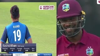 Rashid Khan vs Andre  Russel  Battle   in England at Lords ground