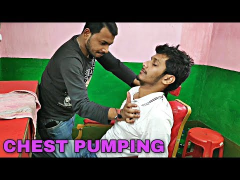 Desi style head and body massage at village salon | Neck cracking | Indian ASMR