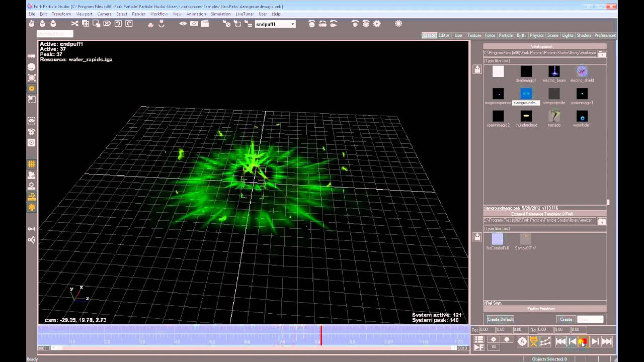Particle Effects for Games - Samples (magic, thunder, tornado ...