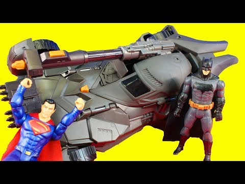 Justice League Movie Trailer Prediction Batman Superman Steppenwolf Mega Cannon Batmobile Toy Review