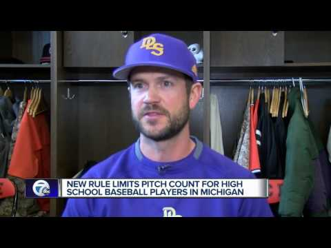 New rule limits pitch count for high school baseball players in Michigan