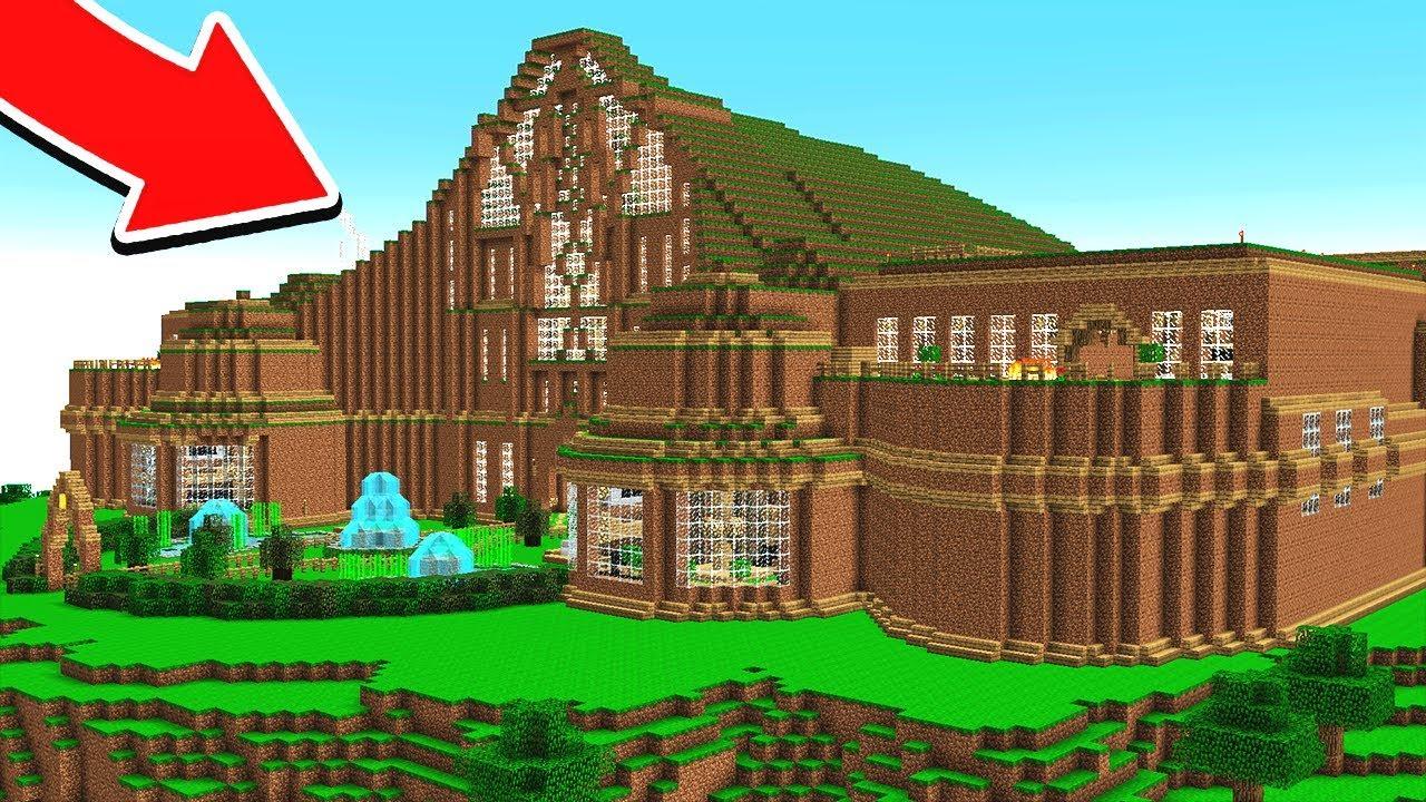 World U0026 39 S Biggest Minecraft Dirt Redstone House