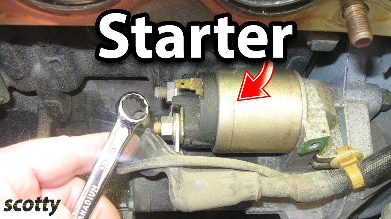 How to Replace a Starter in Your Car  YouTube