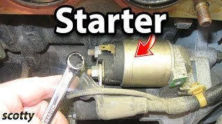Replacing A Starter In Your Car.