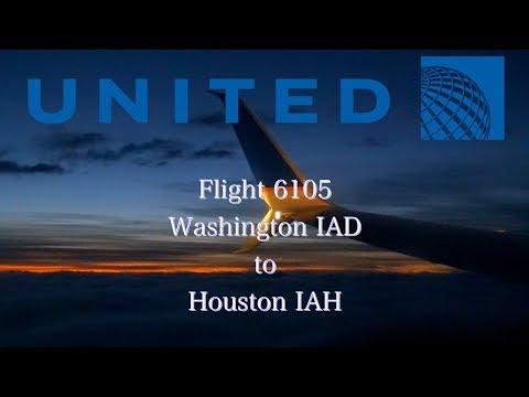 United Airlines flight 6105 737-800ER Washington IAD to Houston IAH