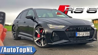 2020 Audi RS6 C8 | 300km/h REVIEW POV on AUTOBAHN (NO SPEED LIMIT) by AutoTopNL