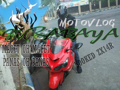 #31 ZX14R Surabaya Kena Macet_Macet Panas Ampun_Kedai Big Bike MotoVlog