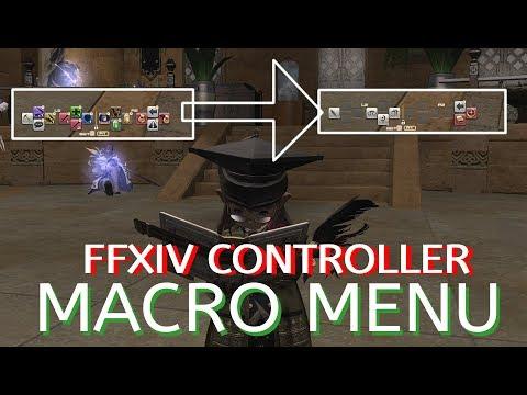 FFXIV Controller Macro Menu