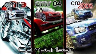 Colin McRae Rally 3 Vs. Colin McRae Rally 04 Vs. Colin McRae Rally 2005 Comparison