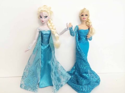 How To Make an Elsa Doll Dress Tutorial - Disney\'s Frozen - Elsa and ...
