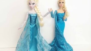 How To Make An Elsa Doll Dress Tutorial - Disney's Frozen