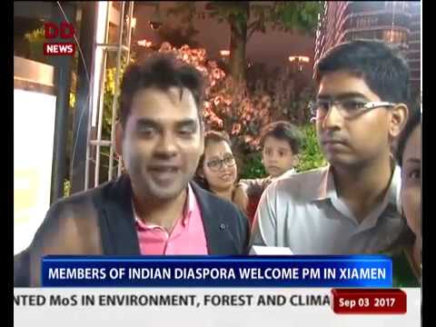 Xiamen: Enthusiastic welcome of PM by the Indian Community
