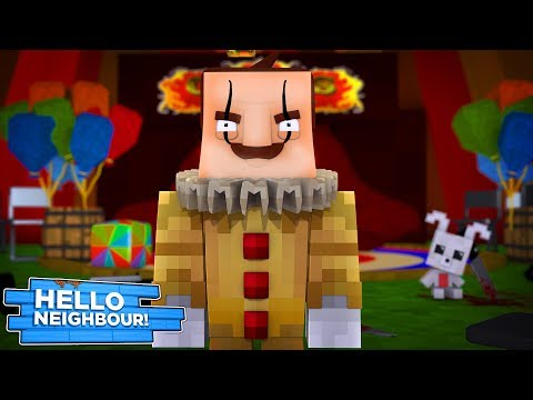 Minecraft Hello Neighbour - THE NEIGHBOUR IS A CREEPY CLOWN!?