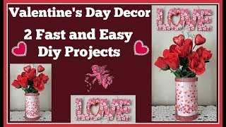 2 Valentine's Day 💖 Dollar Tree Easy Diys