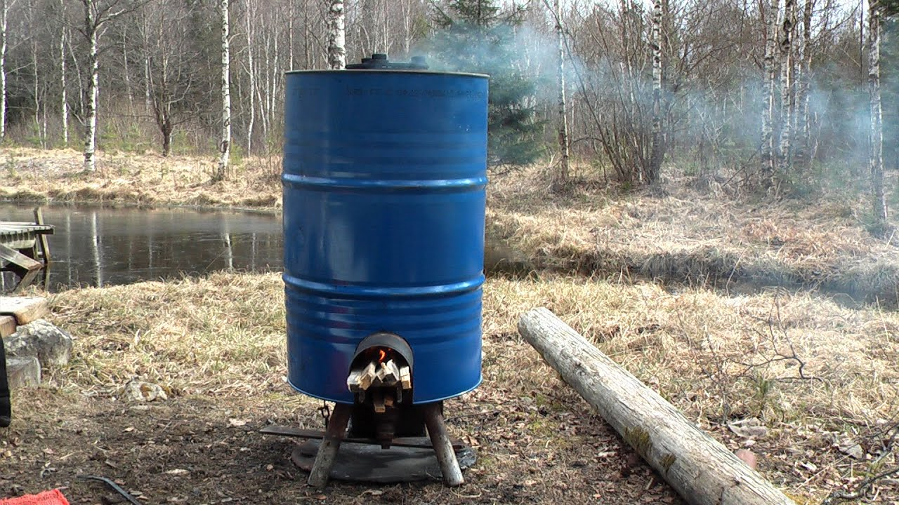 Simple diy rocket stove producing hot water food and ch for Rocket water heater plans