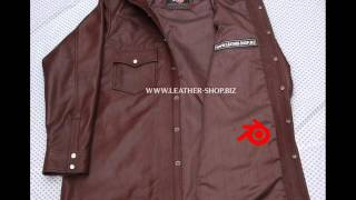 Leather shirts for men custom made