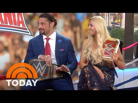 Meet The Winners Of Wrestlemania 32, Roman Reigns And Charlotte   TODAY