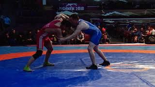 Спорт. Вольная борьба. Турнир Кожомкула-2018. День 2 Мат B (Часть 2)