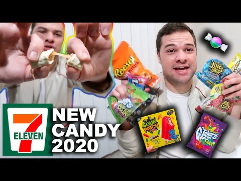 Trying All NEW Candy From 7-Eleven! Taste Test 2020