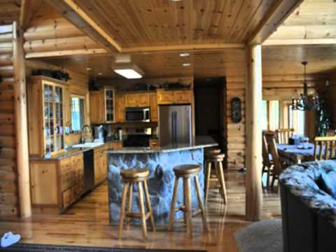 Northern michigan log cabin for sale mullet lake access for 4 bedroom log cabin kits for sale
