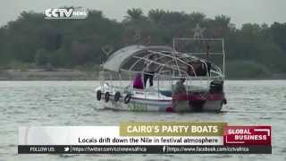 Locals drift down the Nile in festival atmosphere