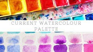 My Current Watercolor Palette 🎨 - Schmincke, Daniel Smith, Sennelier & More