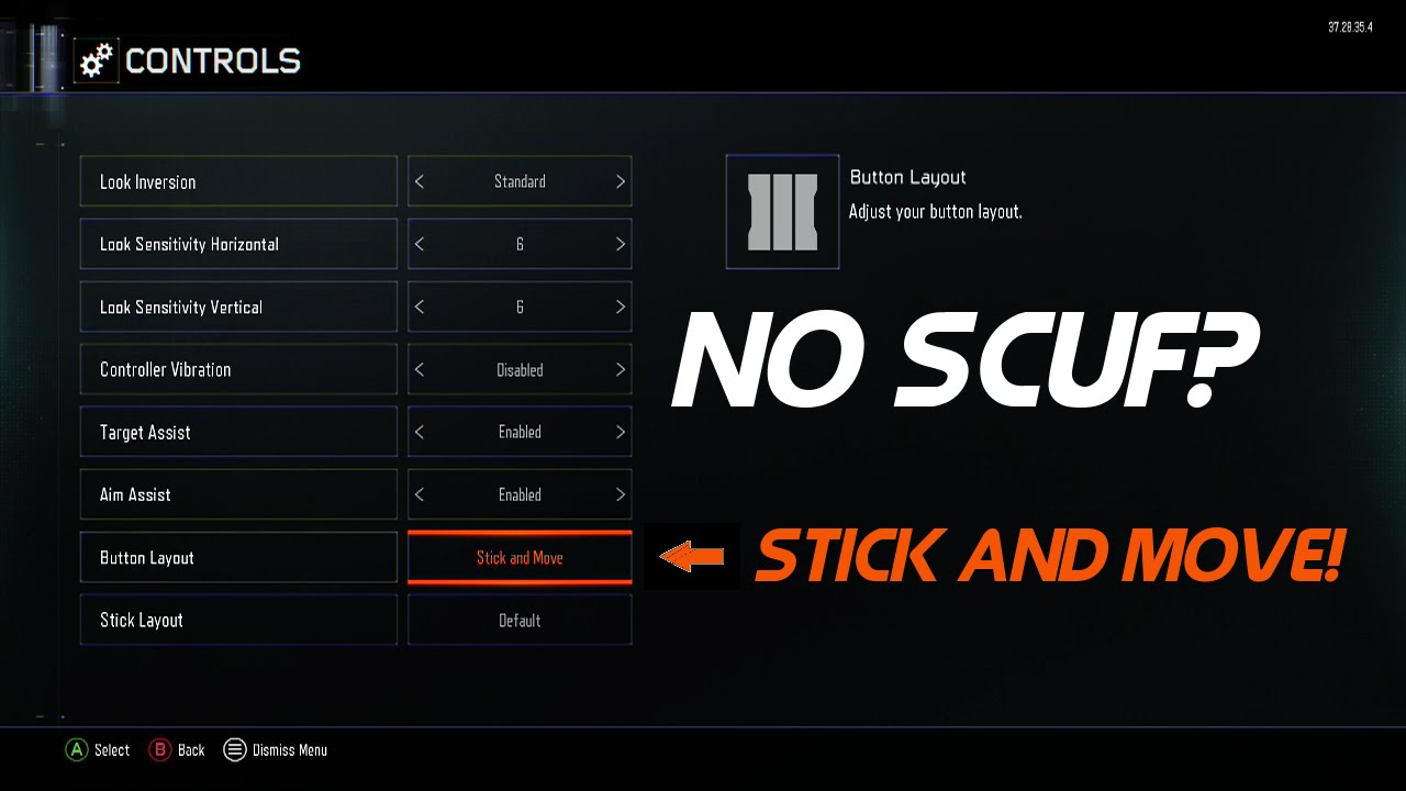 No scuf use stick and move layout black ops 3 multiplayer use stick and move layout black ops 3 multiplayer youtube voltagebd Image collections