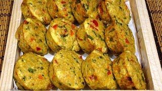 Закусочные маффины (кексы) с курицей, сыром. овощами и киноа_Quinoa muffins with chicken and cheese