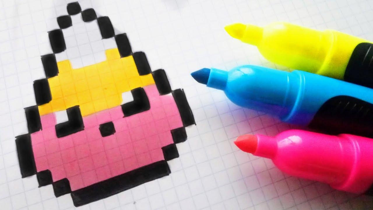 Handmade Pixel Art How To Draw Kawaii Star From Super Mario Pixelart By Hello Pixel Art
