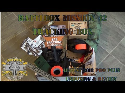 Battlbox (Battle Box) Mission 42 Tracking Box - August 2018 - Pro Plus Unboxing and Review