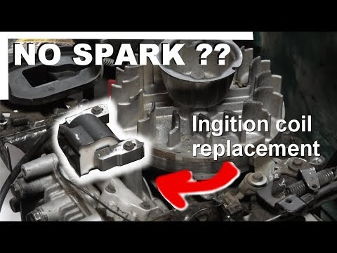 No spark on lawn mower engine - Ignition coil replacement