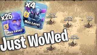 Wowed 4 Max Pekka 25 Bowler 4 Earthquake Ground Army 3Star Any TH11 War Bases | Clash Of Clans War