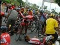BICYCLE RACING ACCIDENT #Tour De Siak etape 3