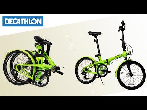 Bici Pieghevole Bfold 20.Bici Pieghevole Hoptown B Twin Decathlon Italia Youtube