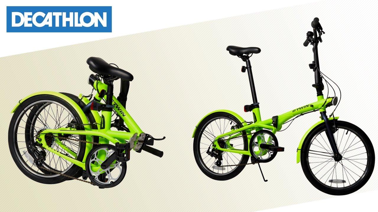 bici pieghevole hoptown b 39 twin decathlon italia youtube. Black Bedroom Furniture Sets. Home Design Ideas