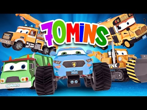 appMink Awesome Vehicle Competition ft Monster truck & School bus - appMink playlist 70 minutes