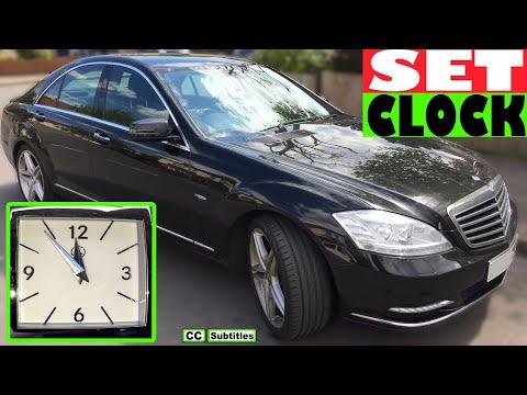 How to set clock Mercedes S-Class - Mercedes S-Class Setting the Clock