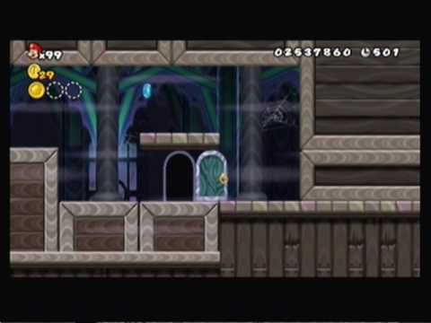 Lets play new super mario bros wii world 4 4 and ghost - Passage secret mario bros wii ...
