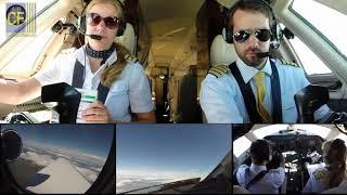 Teil 3, Atlantiküberquerung im Privatjet-Cockpit: Landung in Düsseldorf - Cockpitfilme.de